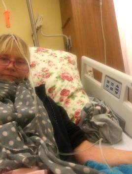Alexandra Bohlig im Krankenhaus