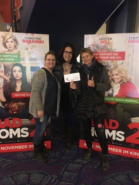 Glückskämpfer e.V. - UCI-Kinowelt - Bad moms, 2 Anja, Alex, Nadine